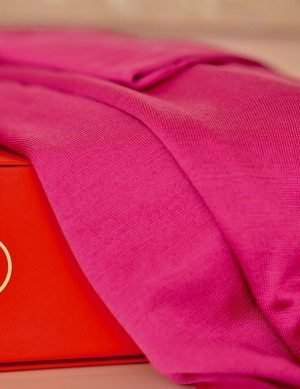 Summer Travel Shawl from Italian Fine Silk Blend Fuchsia