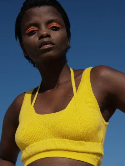 Knitted Bra Yellow