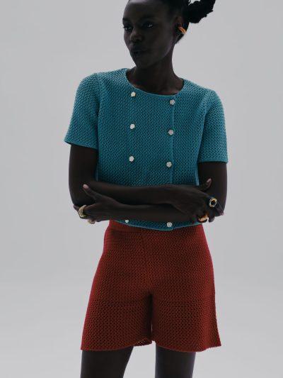 cotton knit shorts
